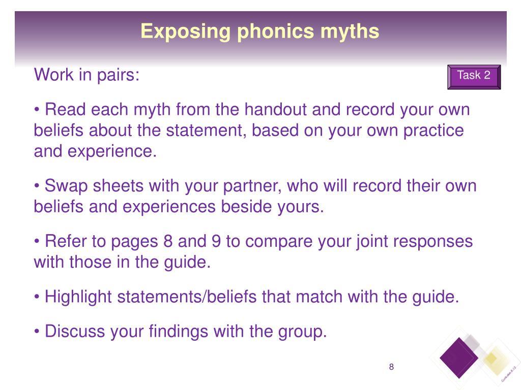 Exposing phonics myths
