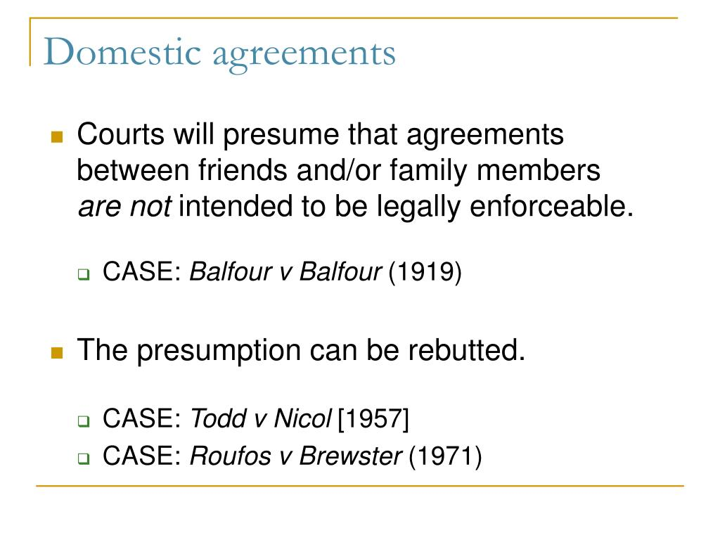 the case is balfour v balfour essay Contract law: new essays (cambridge university press, cambridge, 2001)   18 see balfour v balfour [1919] 2 kb 571, where the english court of appeal  held that the mere  in such cases only the promisor will have an intention to.