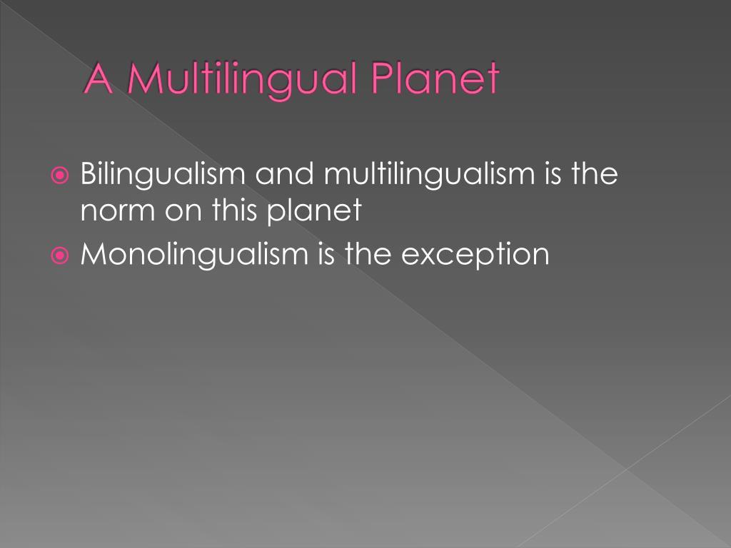 A Multilingual Planet