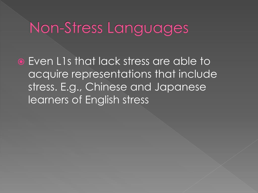 Non-Stress Languages