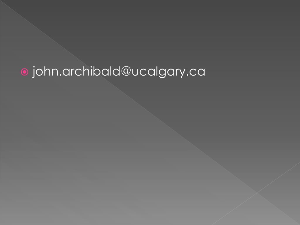 john.archibald@ucalgary.ca