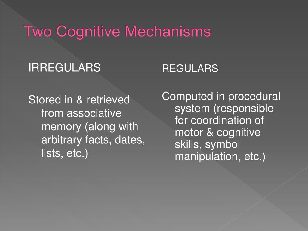 Two Cognitive Mechanisms