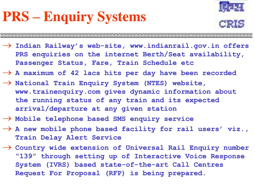 PRS – Enquiry Systems