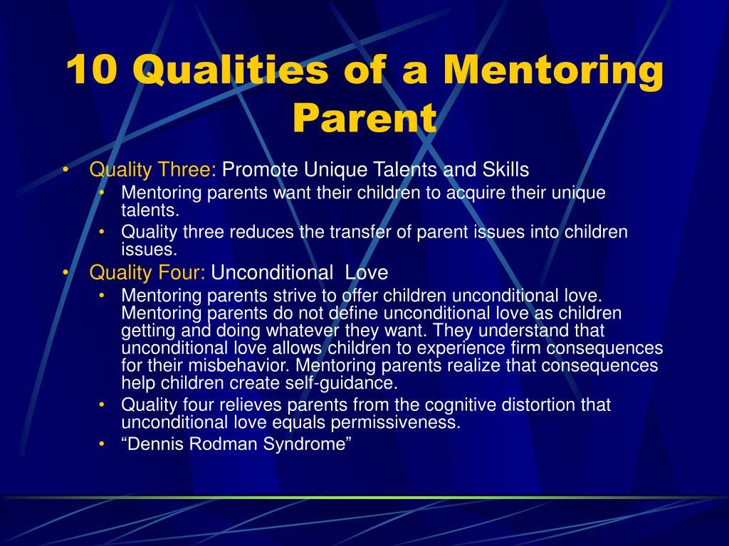 10 Qualities of a Mentoring Parent