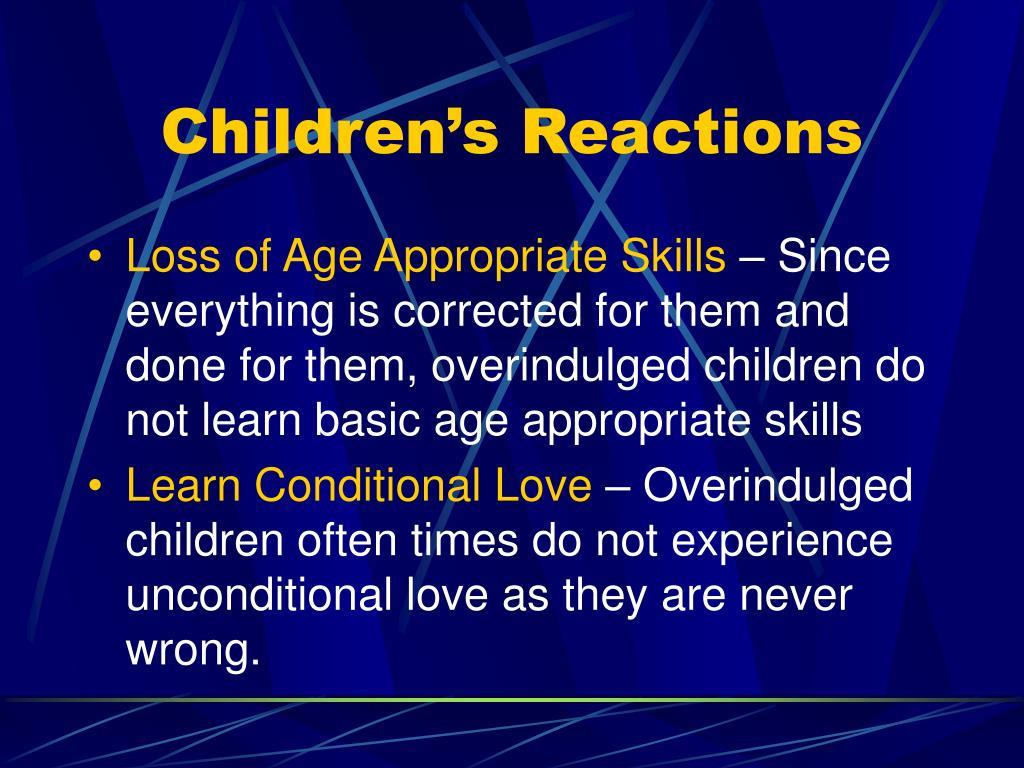 Children's Reactions
