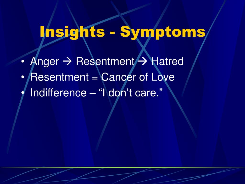 Insights - Symptoms