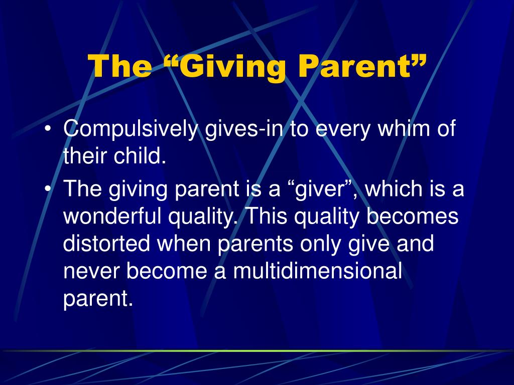 """The """"Giving Parent"""""""