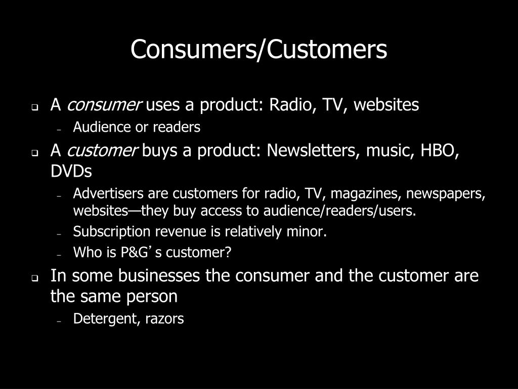 Consumers/Customers