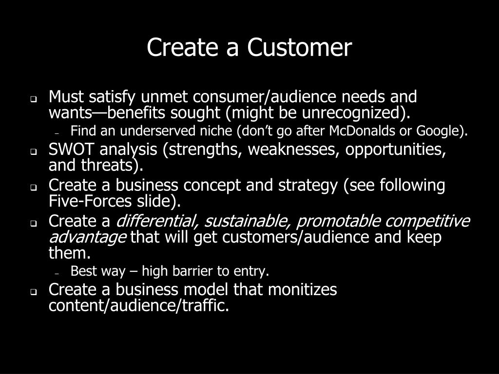 Create a Customer