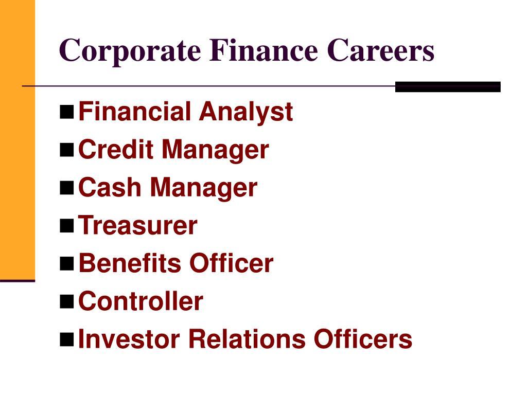 Corporate Finance Careers
