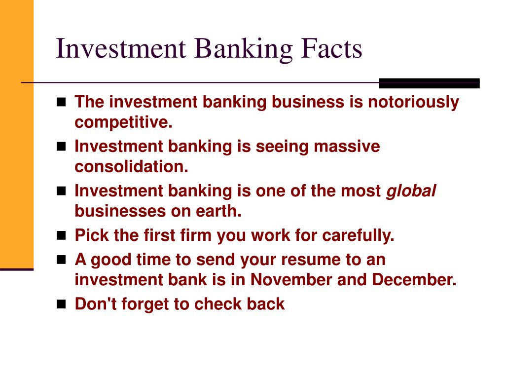 Investment Banking Facts
