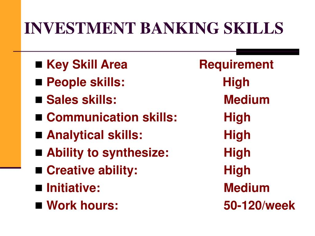 INVESTMENT BANKING SKILLS