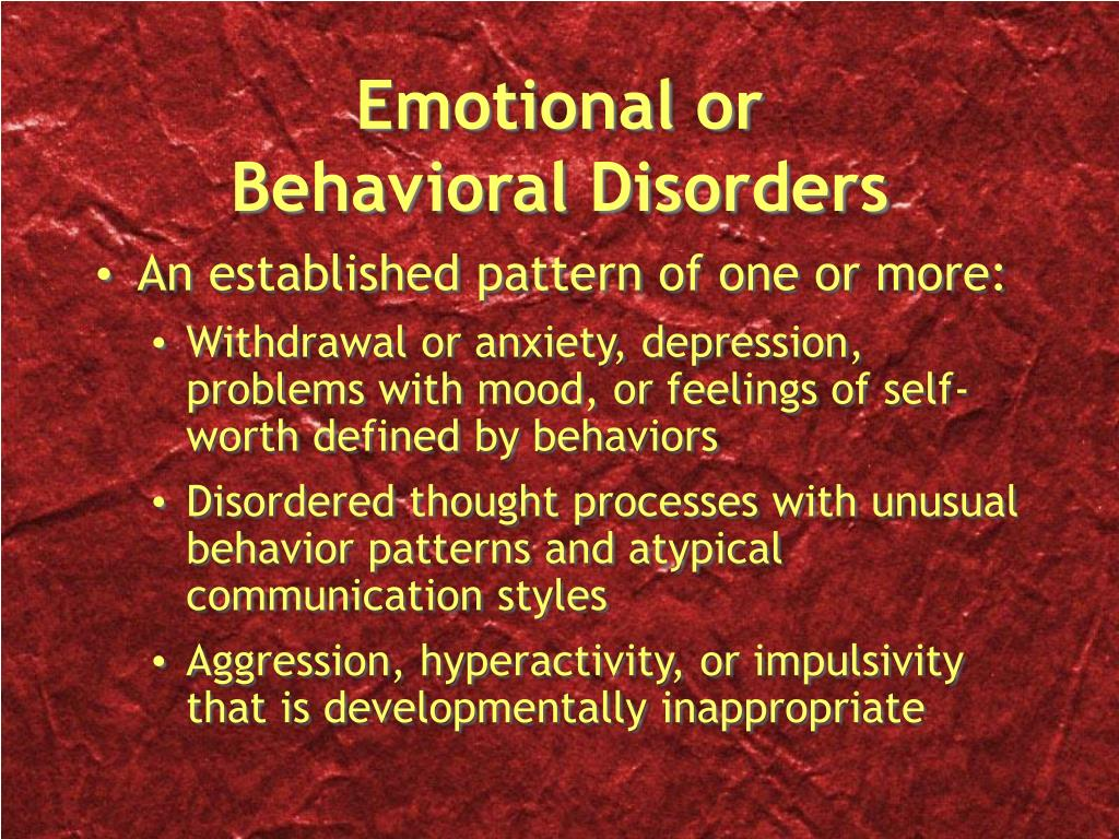 the prevalence and effects of emotional behavior disorders ebd To emotional disturbance and behavioral  disturbance and behavioral disorders ebd may be explained by (a)  6 • understanding emotional and behavioral disorders.