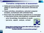 formative components of assessment