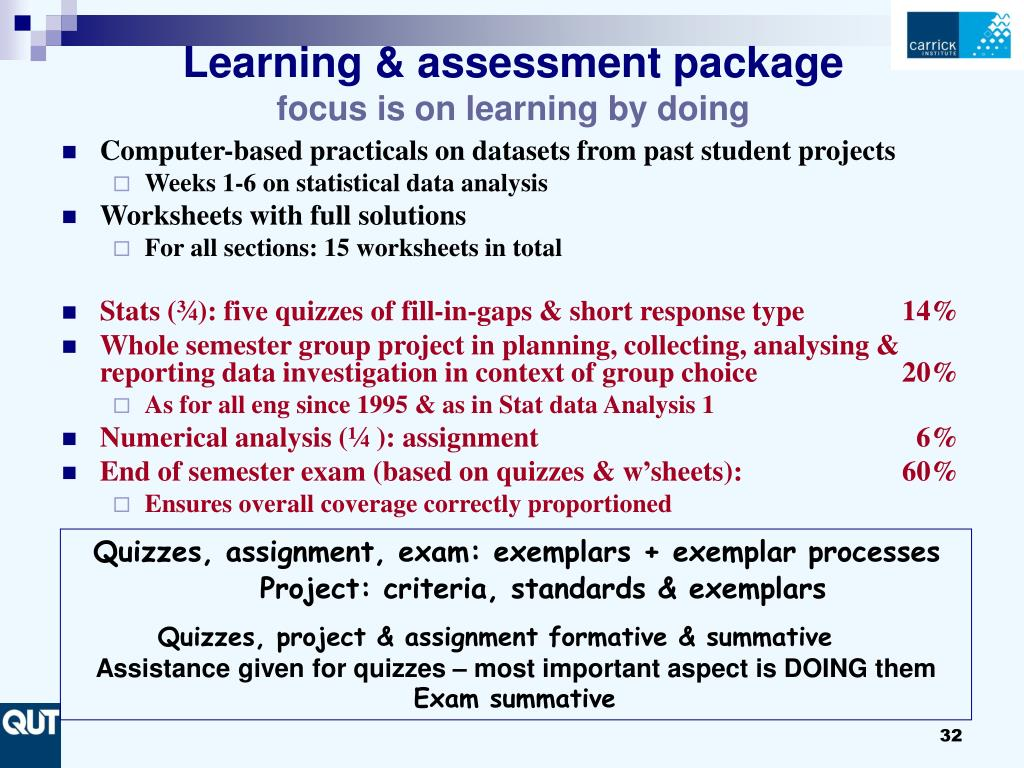 Learning & assessment package