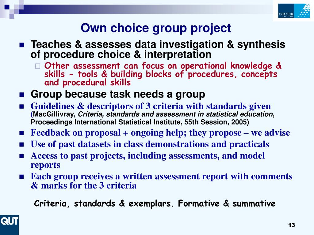 Own choice group project
