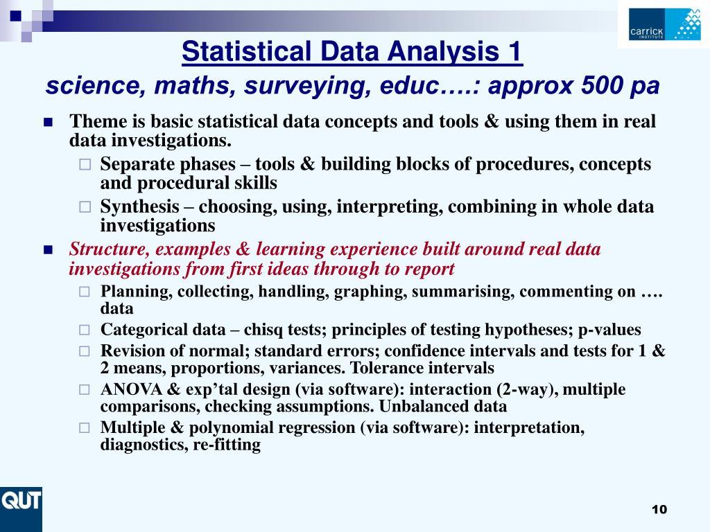 Statistical Data Analysis 1