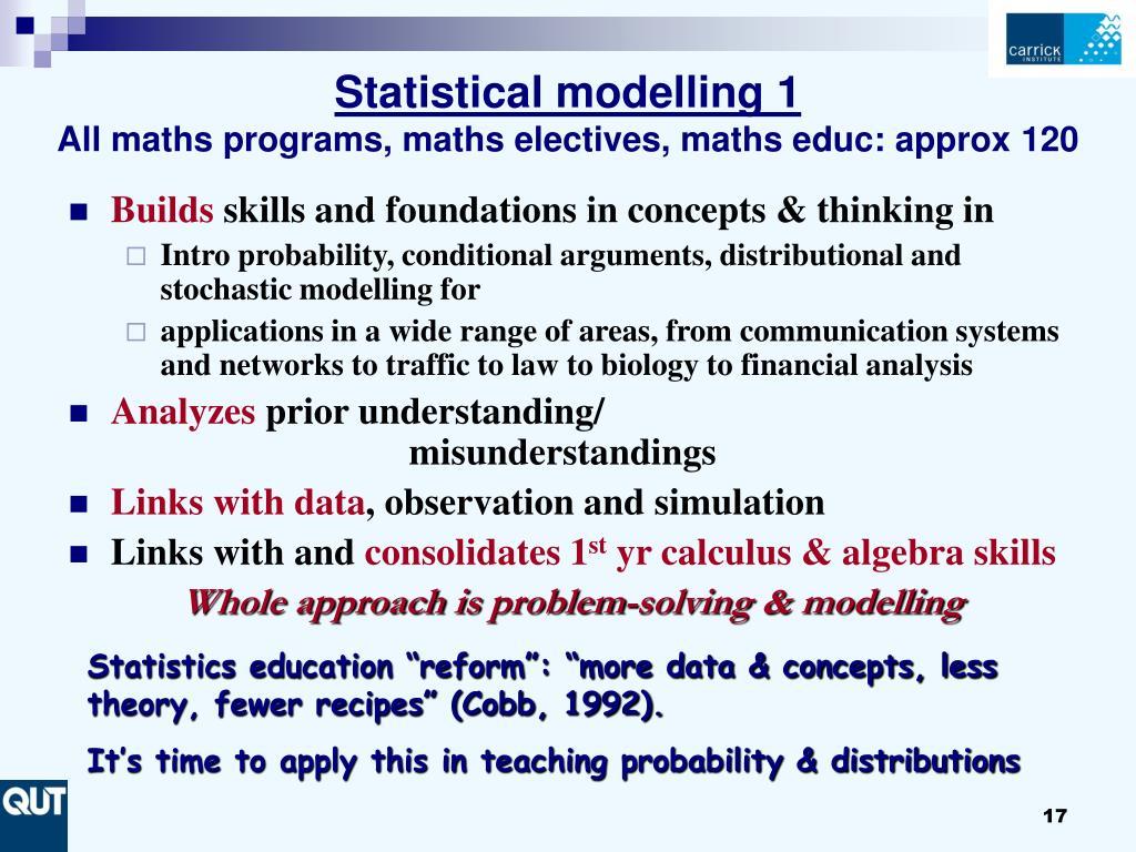 Statistical modelling 1