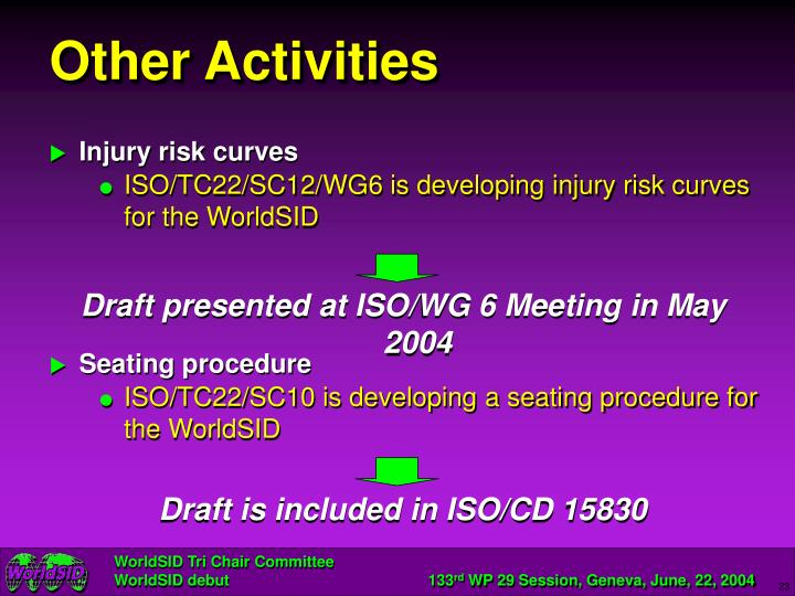 Draft presented at ISO/WG 6 Meeting in May 2004