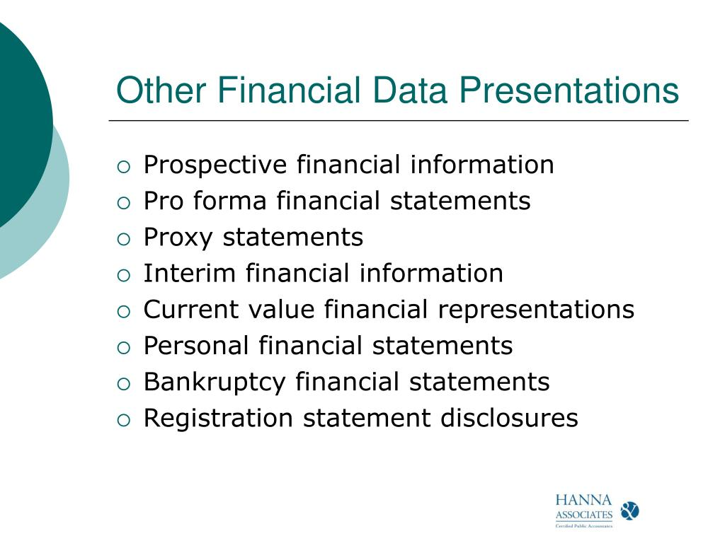Other Financial Data Presentations