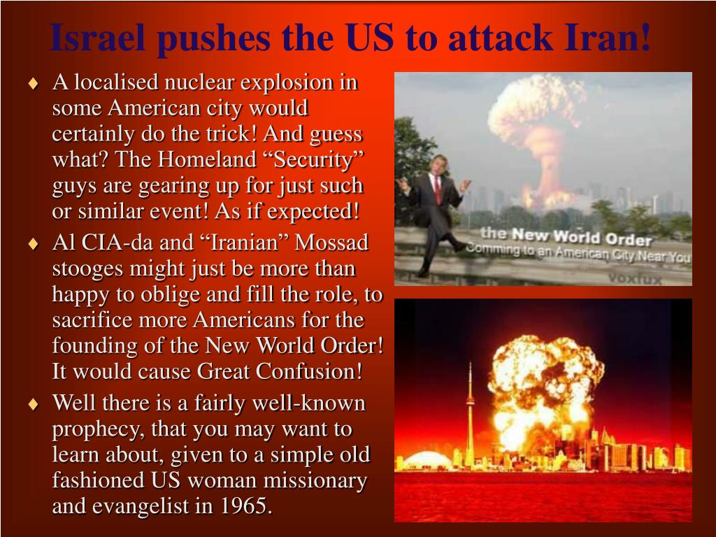 Israel pushes the US to attack Iran!
