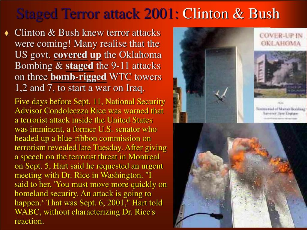 Staged Terror attack 2001: