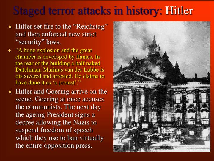 Staged terror attacks in history hitler