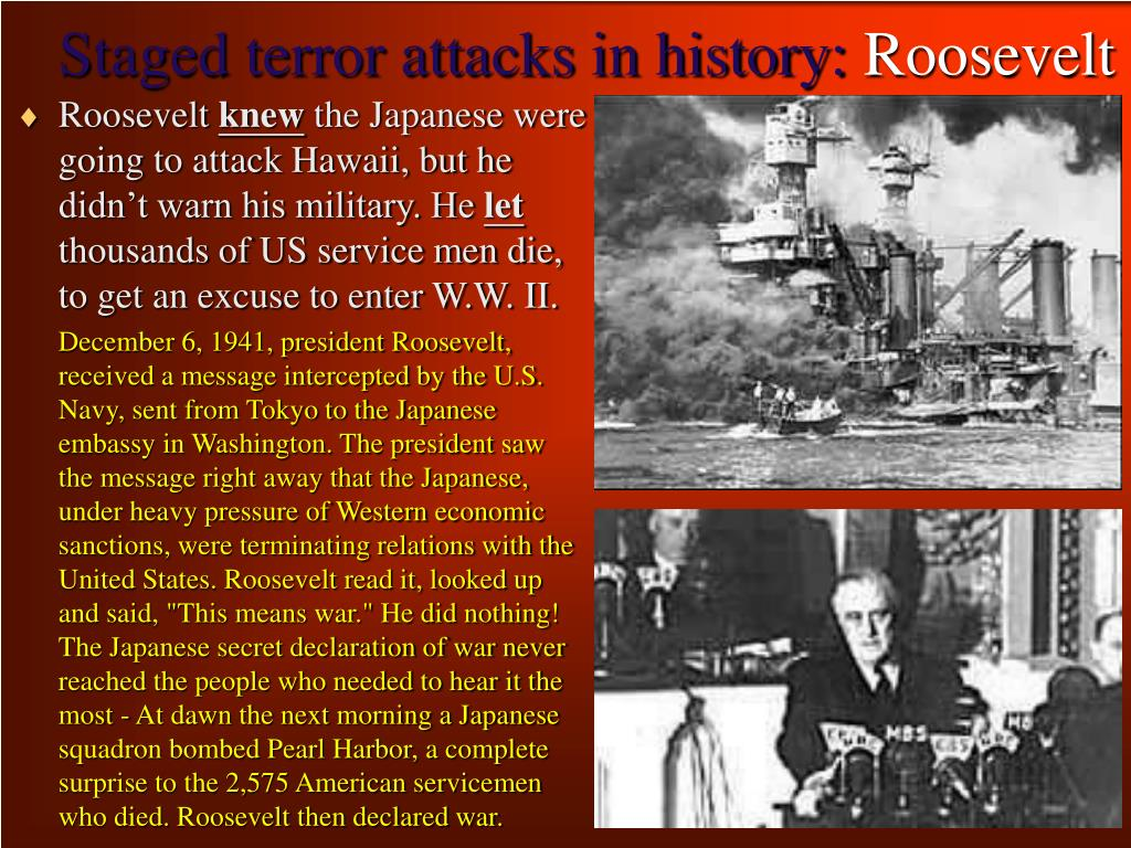 Staged terror attacks in history: