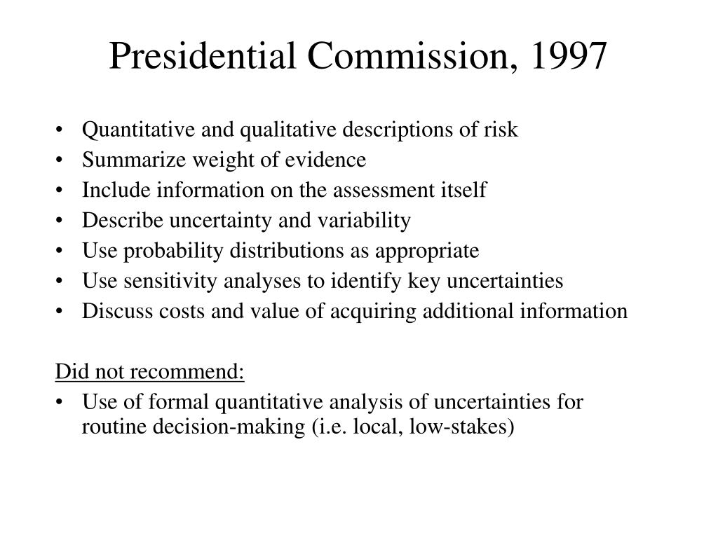 Presidential Commission, 1997
