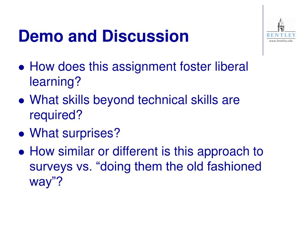 Demo and Discussion