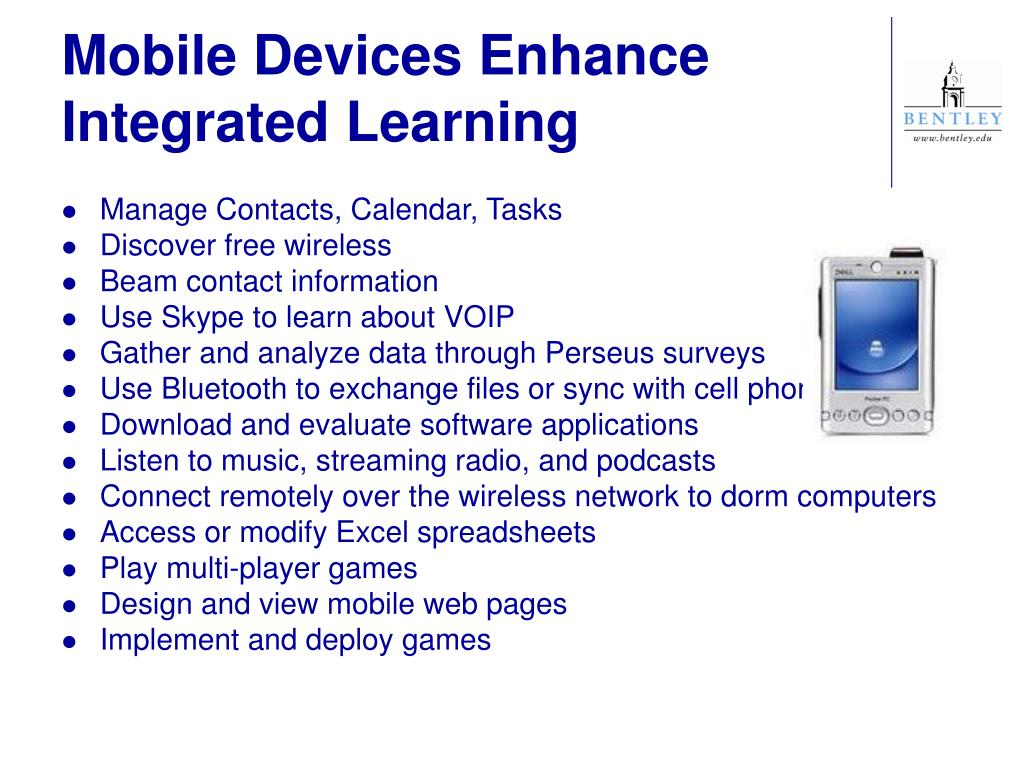 Mobile Devices Enhance Integrated Learning