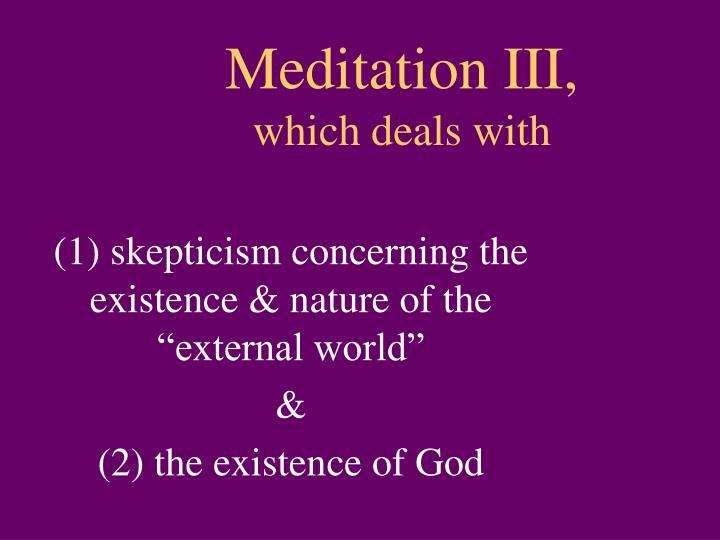 Meditation III,