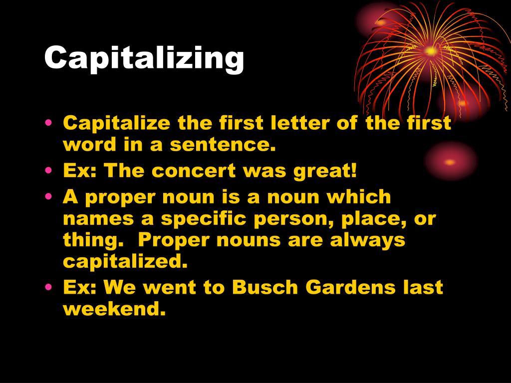 Capitalizing