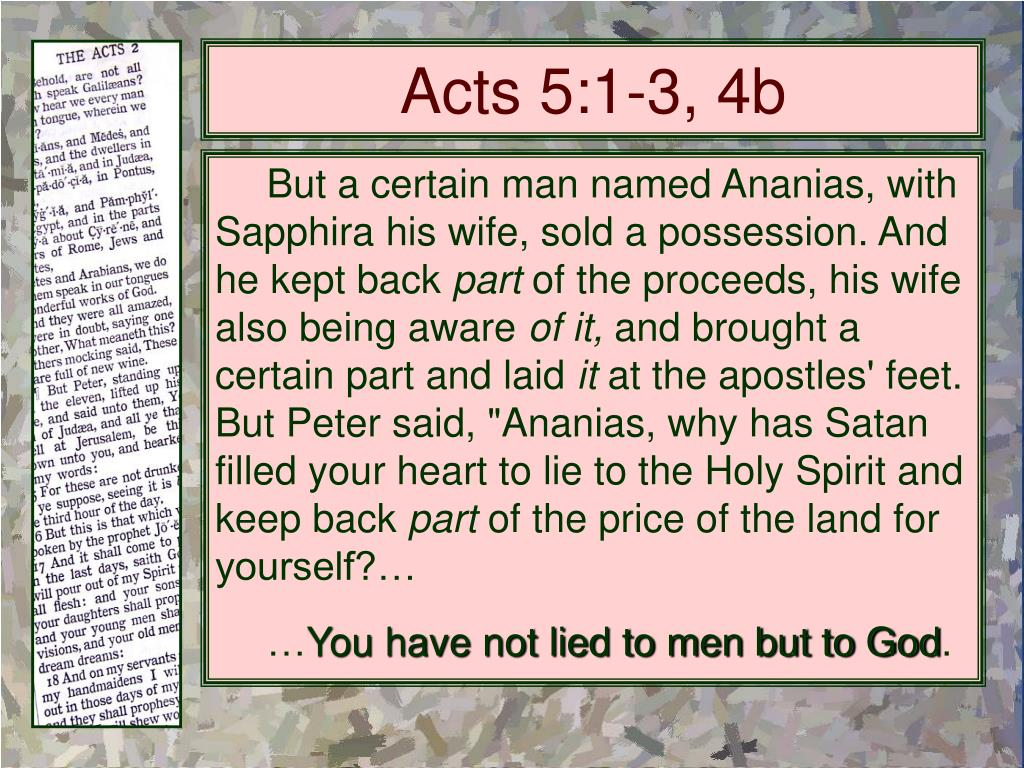 Acts 5:1-3, 4b