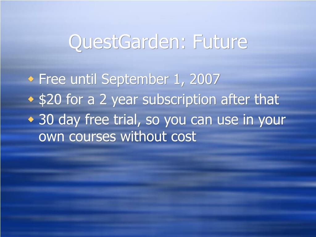 QuestGarden: Future