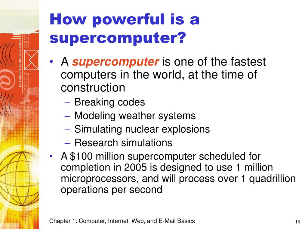 How powerful is a supercomputer?