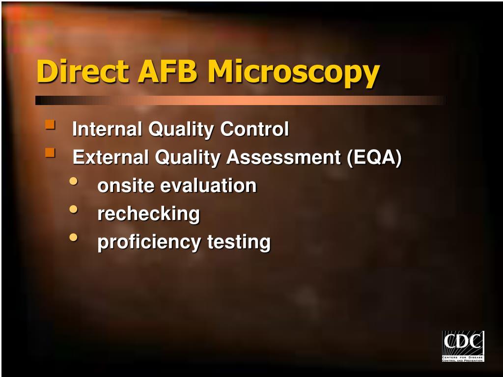 Direct AFB Microscopy