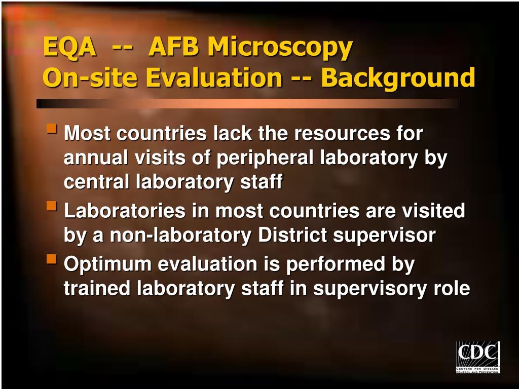 EQA  --  AFB Microscopy