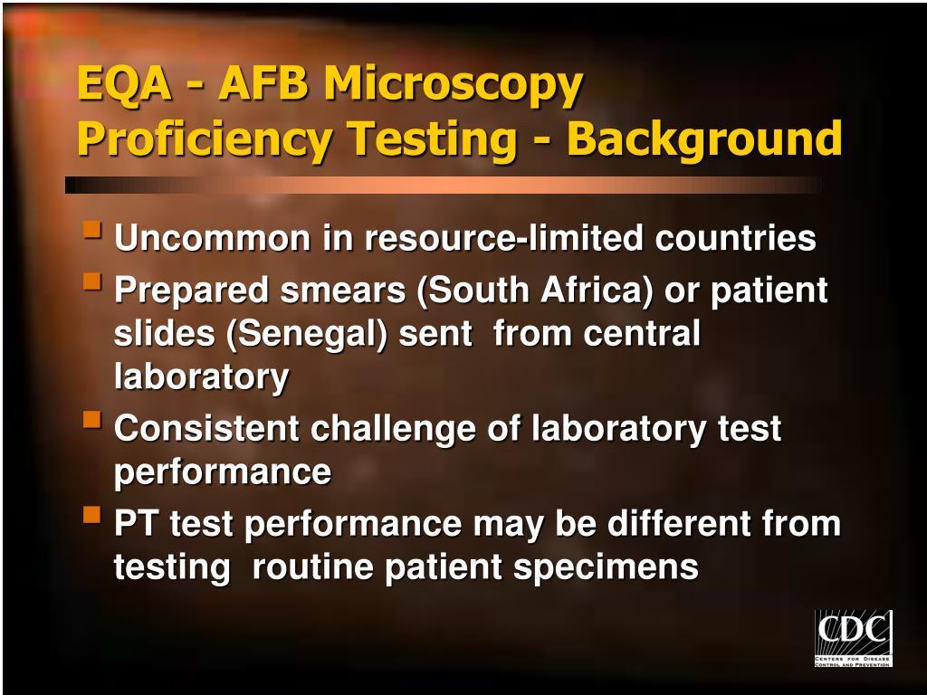 EQA - AFB Microscopy