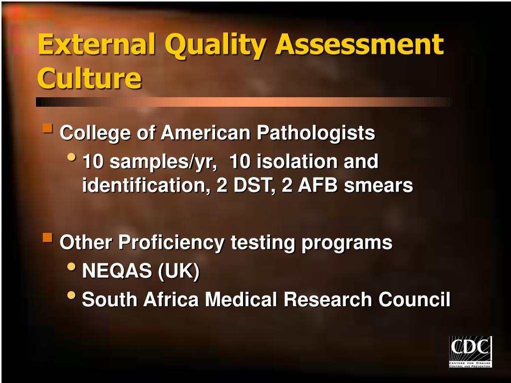 External Quality Assessment
