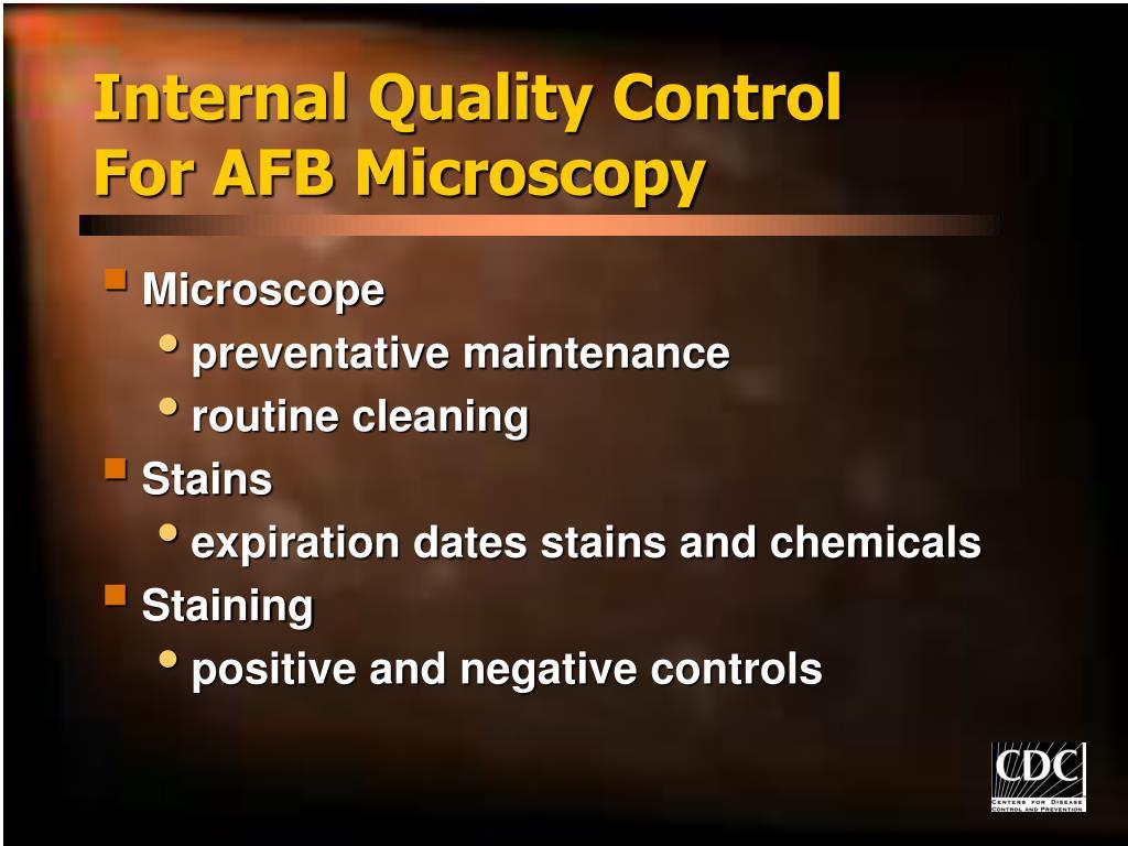 Internal Quality Control