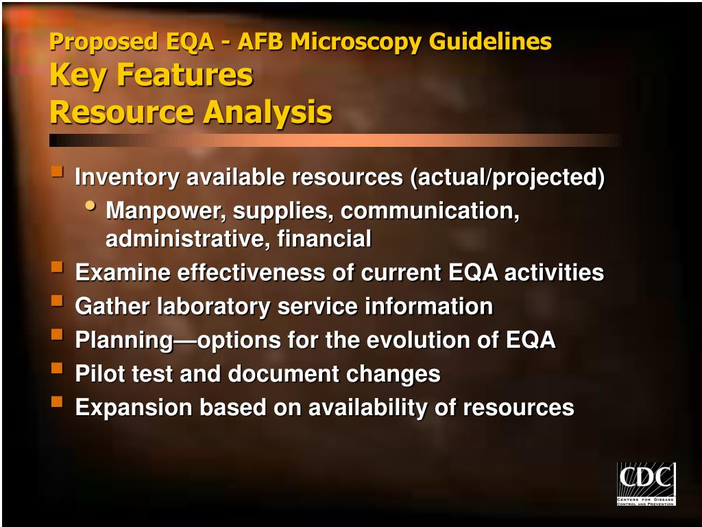 Proposed EQA - AFB Microscopy Guidelines