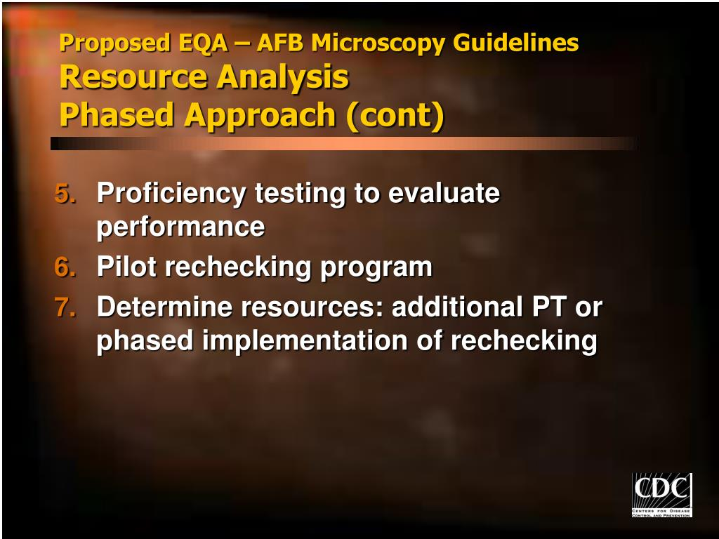 Proposed EQA – AFB Microscopy Guidelines