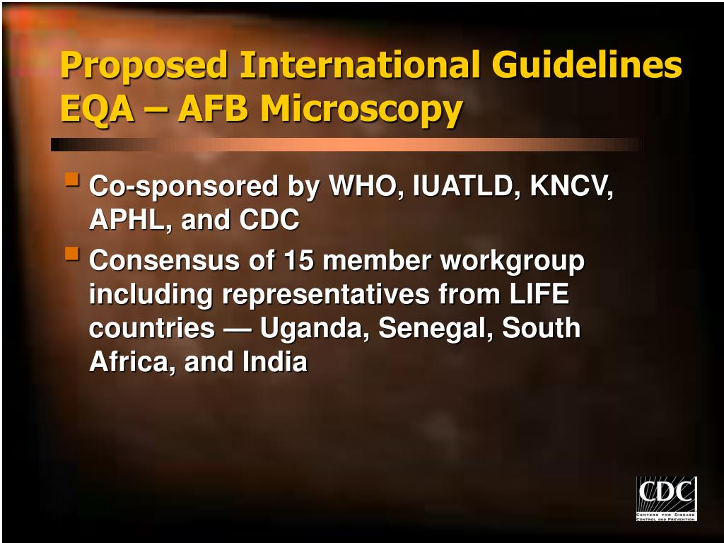 Proposed International Guidelines