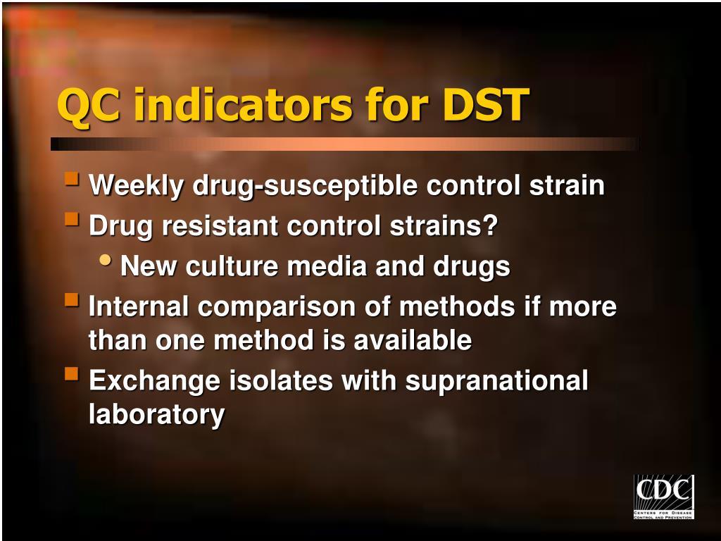 QC indicators for DST