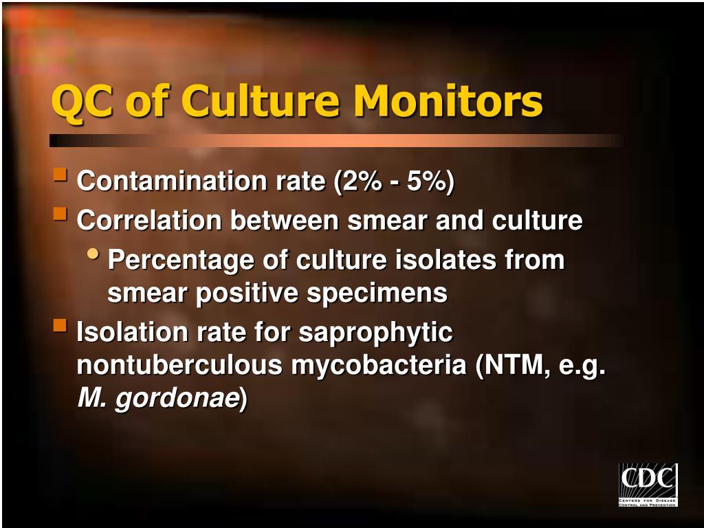 QC of Culture Monitors
