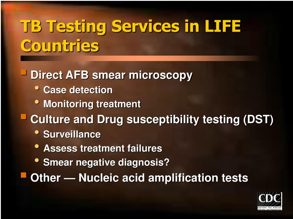 TB Testing Services in LIFE Countries