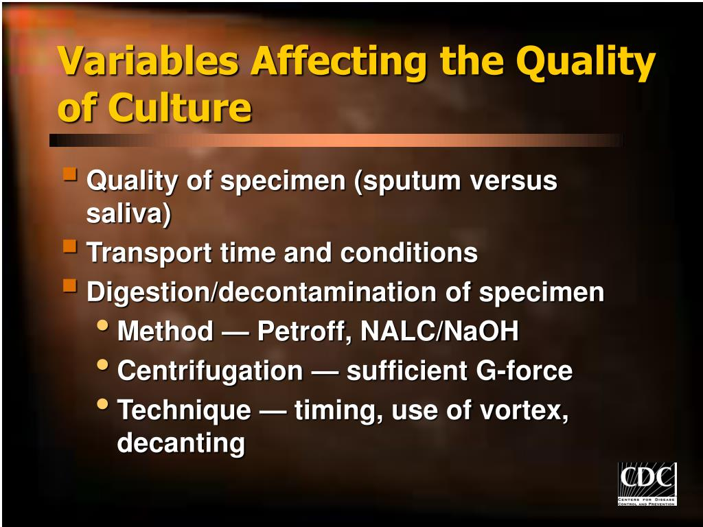 Variables Affecting the Quality of Culture