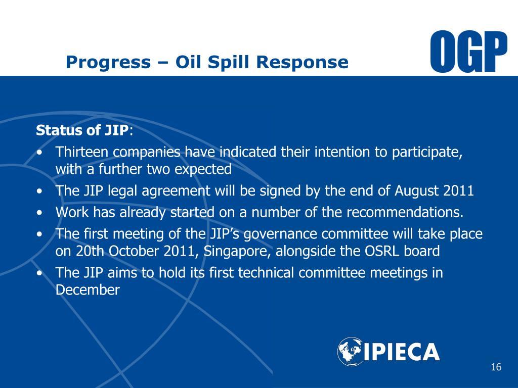 Progress – Oil Spill
