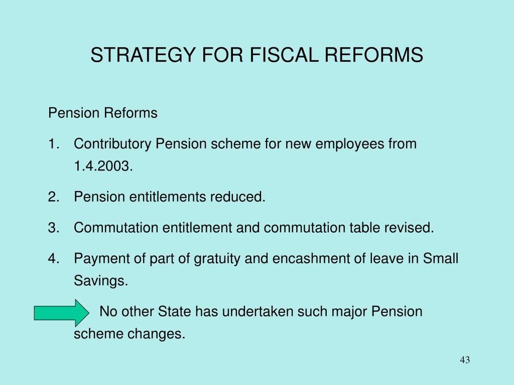 STRATEGY FOR FISCAL REFORMS
